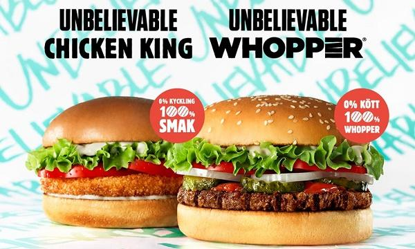 Burger King launches plant-based Unbelievable Whopper in Europe