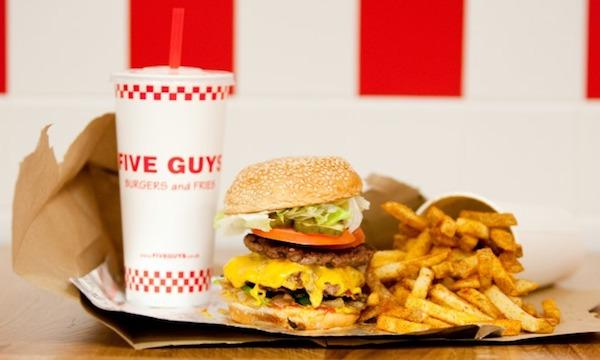 Five Guys Halts Online Ordering In Canary Wharf Site Following Overwhelming Demand